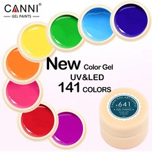#50618 New 2016 CANNI Brand Nail Art Design141 Color UV LED Soak Off Paint Gel Ink UV Gel For Nails(China (Mainland))