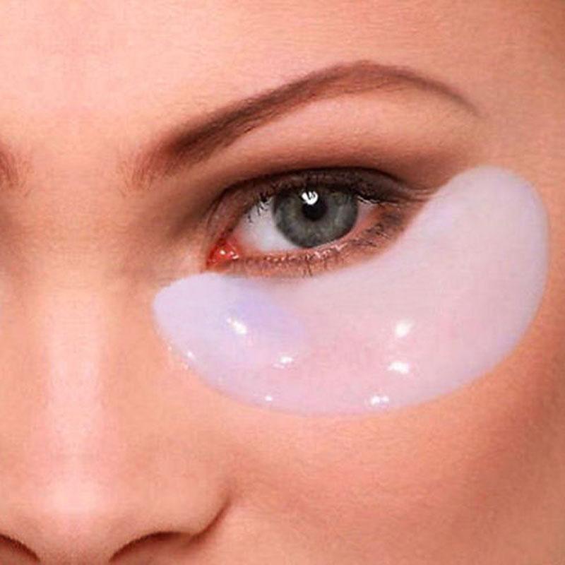 5pcsHot Selling Crystal Eyelid Patch Collagen Eye Mask Sleeping Eye Mask Face Care Beauty Masks(China (Mainland))