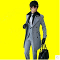 Free shipping Hot sale 2015 Brand men s woolen coat business casual jacket Slim Korean Double