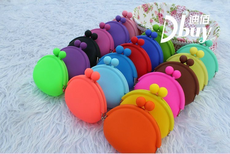 Free Shipping ! 200pcs/lot + 15 colors Japanese Pochi Silicone Coin Purse ,silicone purse wallet(China (Mainland))
