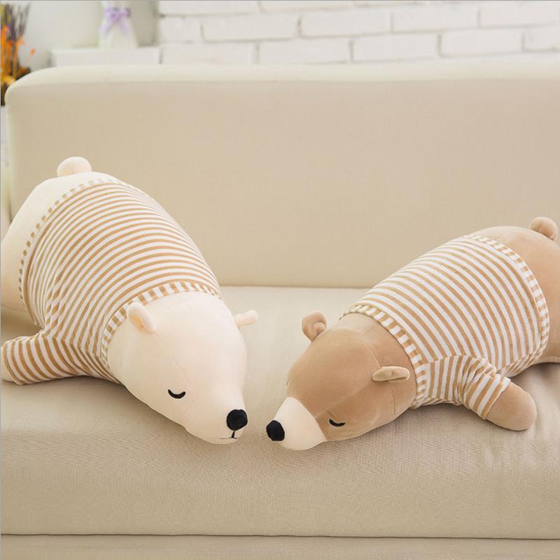 Children Stuffed Animal Toy Doll Cushion Super Soft Polar Bear Plush Peluches Animal Toy Pillow Kids Birthday Christmas Gift(China (Mainland))