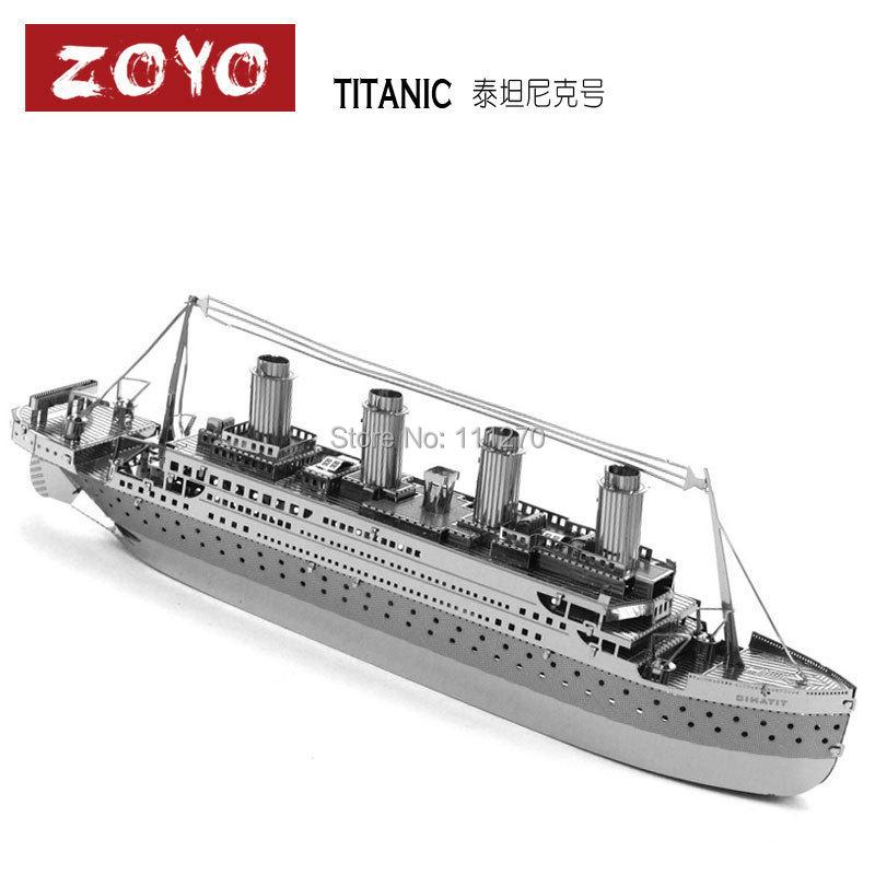 Titanic Miniature 3D Three Dimensional Puzzle Model DIY Nano Bulid Metal Solid Kits - Sunrain Technology Co., Ltd store