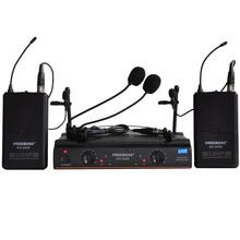 FREEBOSS KU-22H2 UHF Беспроводная Микрофонная Система DJ Караоке 2 Лацкан 2 микрофон Гарнитуры (2 Носимый Передатчик)(China (Mainland))