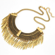 christmas gift wholesale cheap Fashion necklace  copper metal vintage statement necklace free shipping for $15 mini mixed order(China (Mainland))