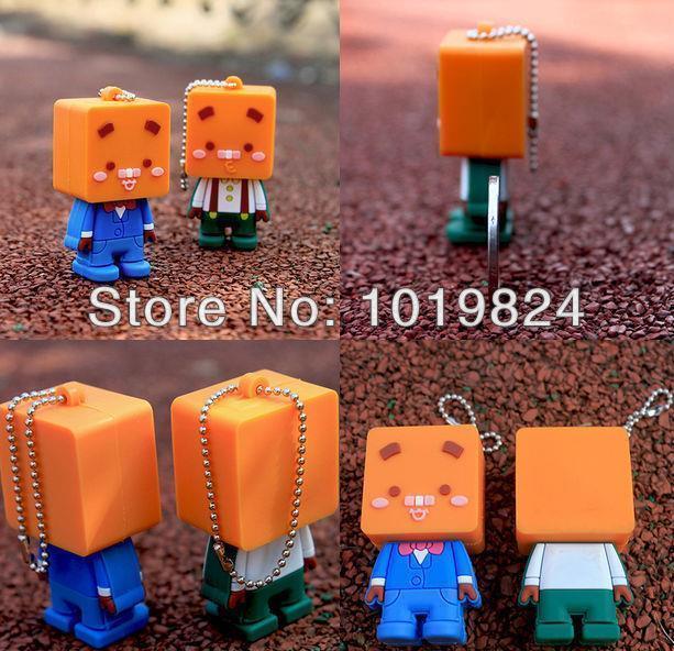 Best qualityusb key Real Capacity spuare head man USB Flash Drives 2GB/4GB/8GB/16GB/32GB Gifts USB Memory Stick S6(China (Mainland))