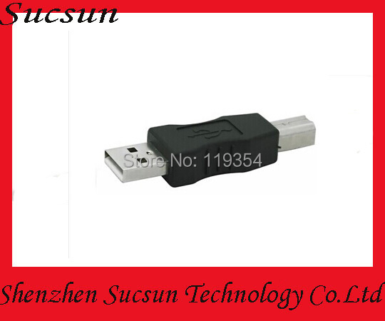 By DHL 500pcs/lot USB 2.0 Adapters USB Male to B Male Convertors USB 2.0 Convertors(China (Mainland))