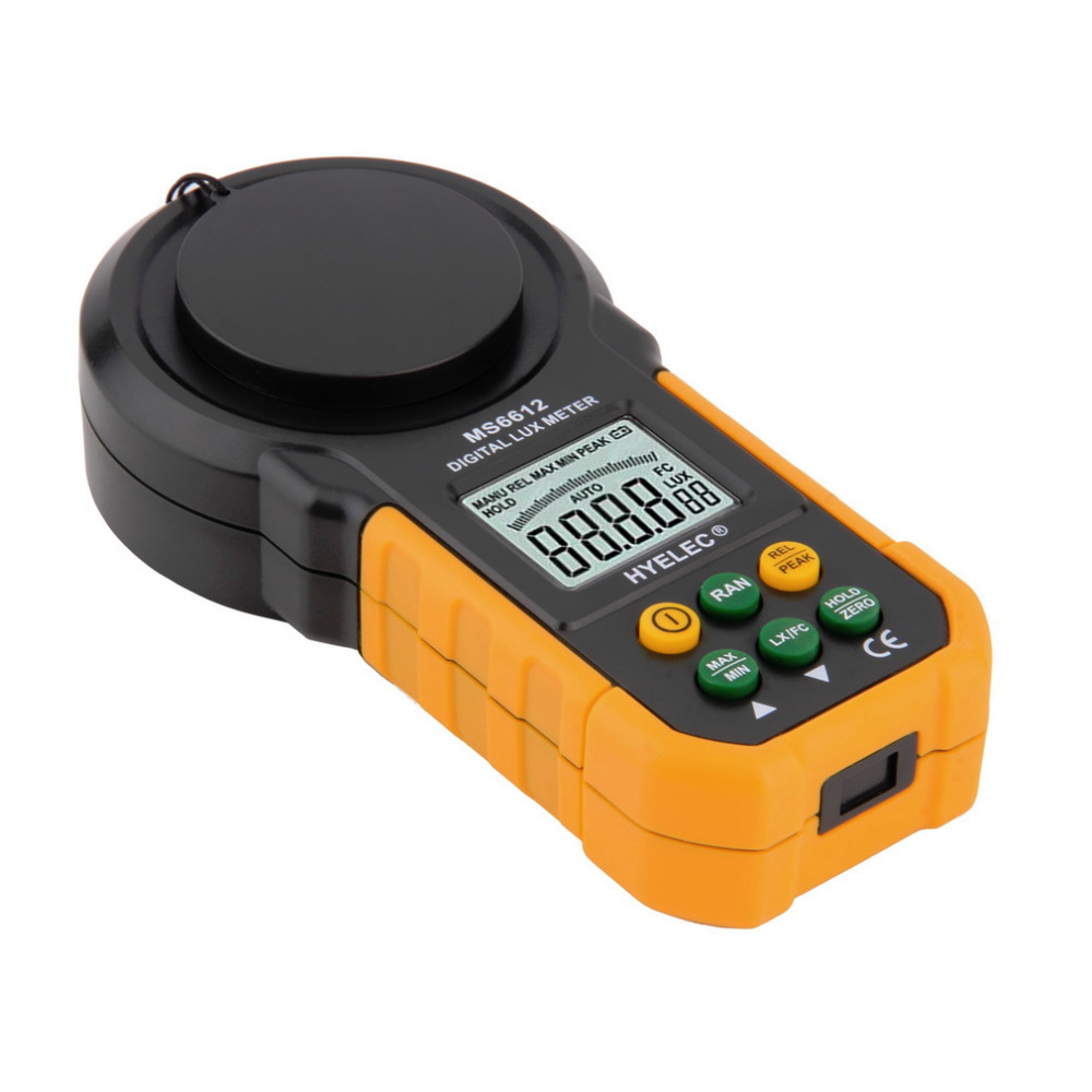 1pc MS6612 Digital Luxmeter 200,000 Lux Light Meter Test Spectra Auto Range Hot Worldwide(China (Mainland))