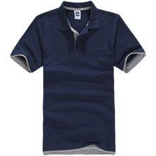 Бренды Camisa поло masculina рубашка Для мужчин s хлопок короткий рукав Для мужчин рубашки поло Sportsjerseysgolftennis плюс Размеры мужской Blusas топы(China)