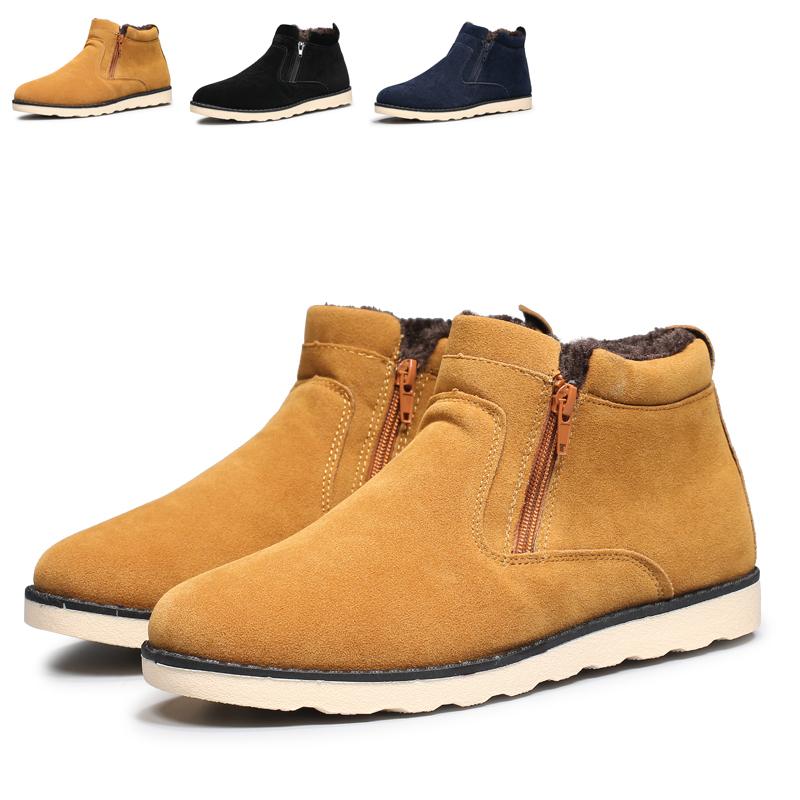 plus plush warm winter short ankle boots men botas para la. Black Bedroom Furniture Sets. Home Design Ideas