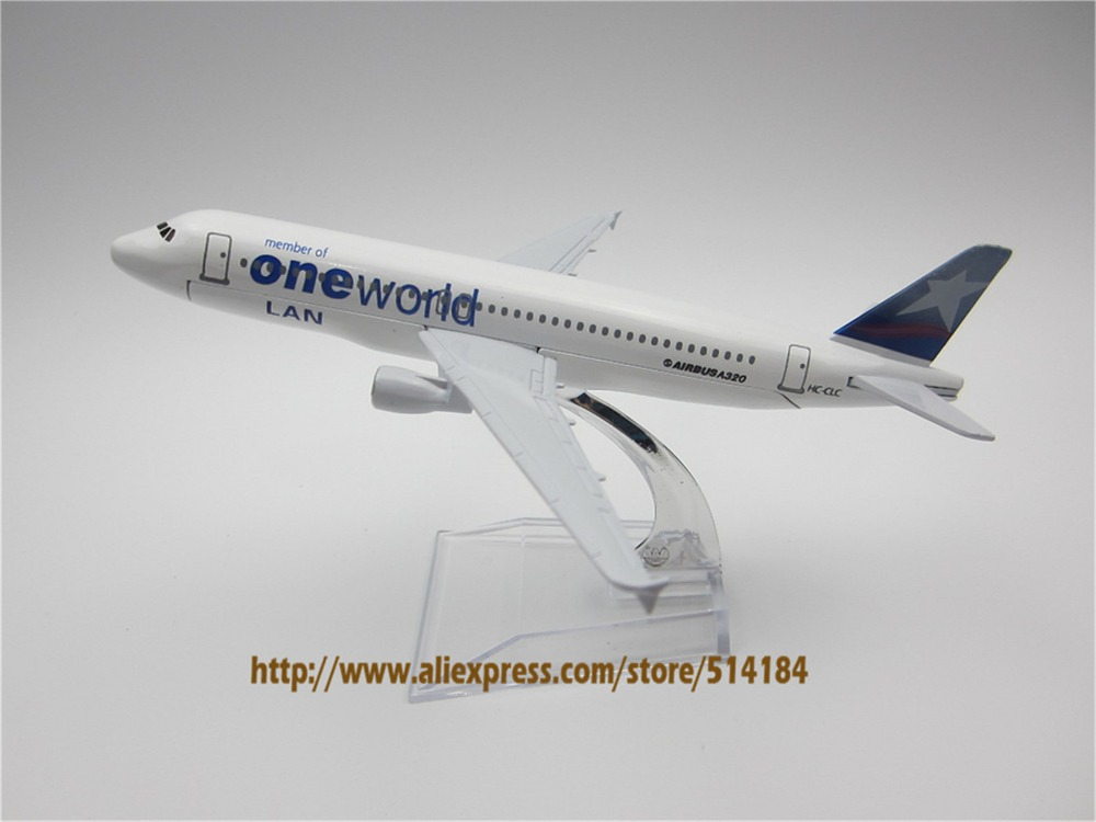 16cm Alloy Metal Chile Air Lan One World Airlines Airbus 320 A320 HC-CLC Airways Plane Model Airplane Model w Stand Aircraft(China (Mainland))