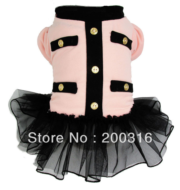 Wholesale New cute Light Pink princess Warm Dogs winter Coat  Free shipping dogs winter dress coat for dog