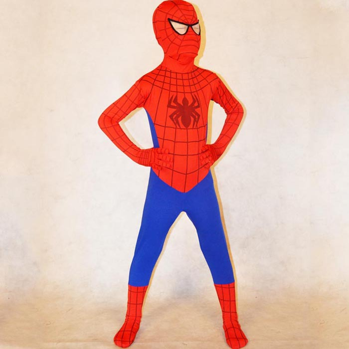 red spiderman costume kids Halloween costumes for kids Children superHero Cosplay Spandex zentai Full bodysuit Custom
