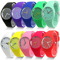 Excellent Quality Top Brand Watches Women Sports Candy colored 11 Colors Jelly Silicone Strap Leisure Watch