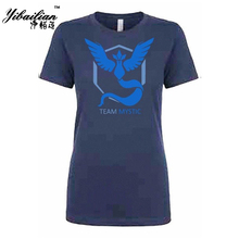 Fashion Short Sleeve Shirts Pokemon Go Women's T Shirt O-neck Cotton Sport Casual Tees Letter Team Mystic Fitness Top Clothing