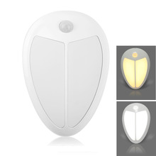 Mini Wireless Infrared Motion Sensor Baby LED Night Light Porch Wall Lamp for Bedroom Hallway Cabinet Stairwells Kitchen Closet(China (Mainland))