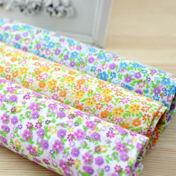 """3 Assorted Color Pre-Cut """" floral print """"Charm Cotton Quilt Fabric Fat Quarter Tissue Bundle Best Match Sewing Textile 50x50cm(China (Mainland))"""