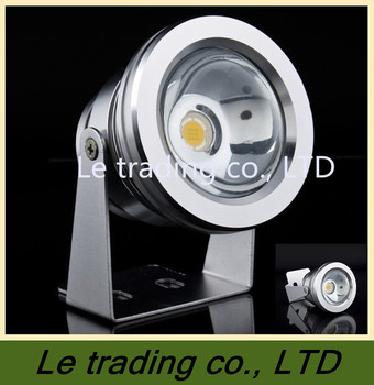 10W 12V or 85-265V Waterproof IP65 LED Floodlight Convex Glass Outdoor Underwater LED  Warm white/Cold white/RGB Free Shipping