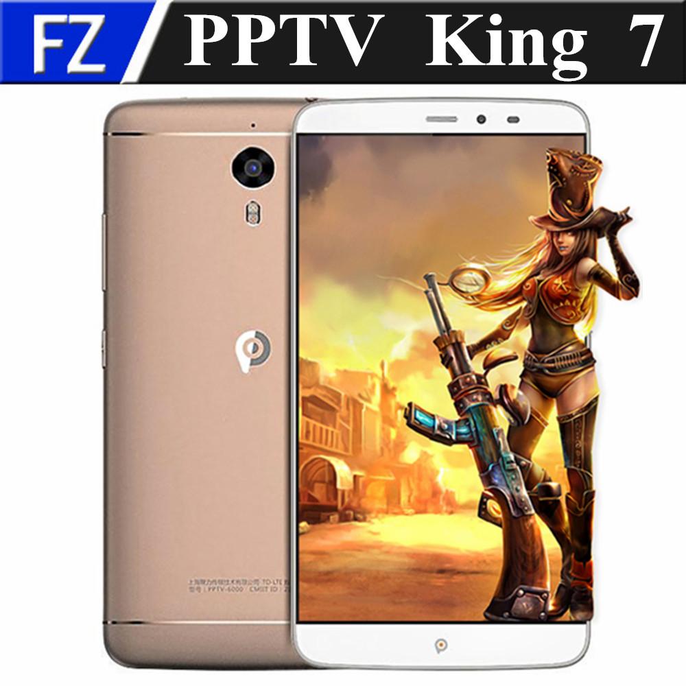 "Original PPTV KING 7 6.0"" 4K 4G TD LTE smartphone Android 5.1 MTK6795 octa core 13MP 3gb ram 32gb rom dual sim GPS Quick Charge"