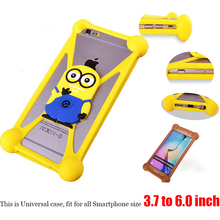 Anti-Shock Silicon Mobile Phone Bag Case Cover For iPhone 6 6S Plus Universal Cartoon Protector For DNS S4502 DNS-S4502 S4502M