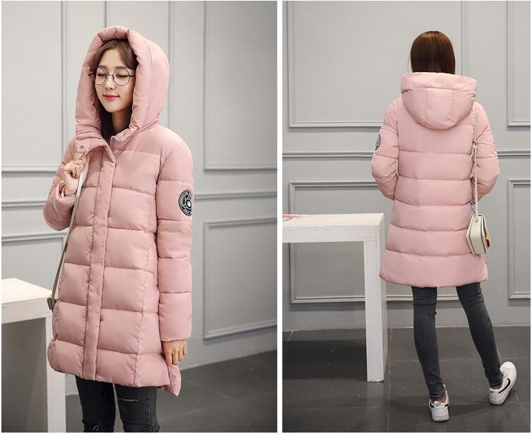 Latest Winter Fashion Women Cotton-padded jacket Hooded Thicken Super warm Medium long Coat Slim Big yards Down jacket NZ380