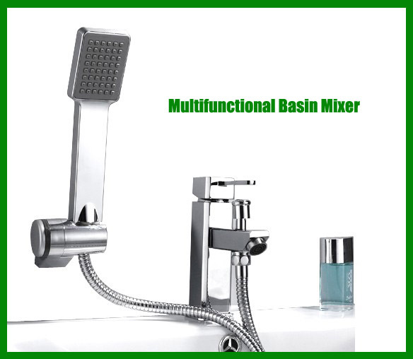 Bathroom faucet stores - Multifunctional Copper Basin Mixer With Abs Hand Shower