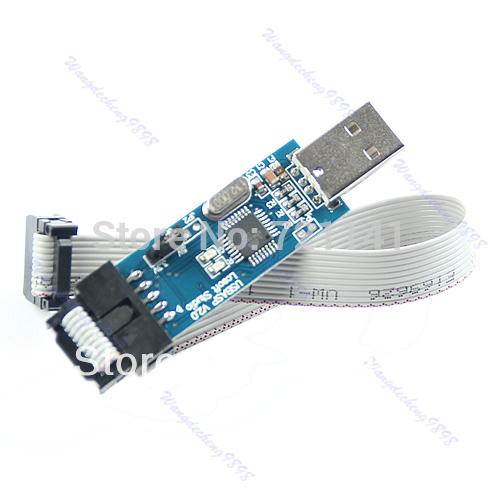 J34 Free Shipping USB ISP Programmer For ATMEL AVR ATMega ATTiny 51 Development Board(China (Mainland))