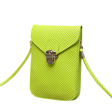 Candy Knitting PU Leather Women Messenger Bags Crossbody Bags Mini Phone Handbags Vintage Desiger Cover Bucket Coin Purse Bag