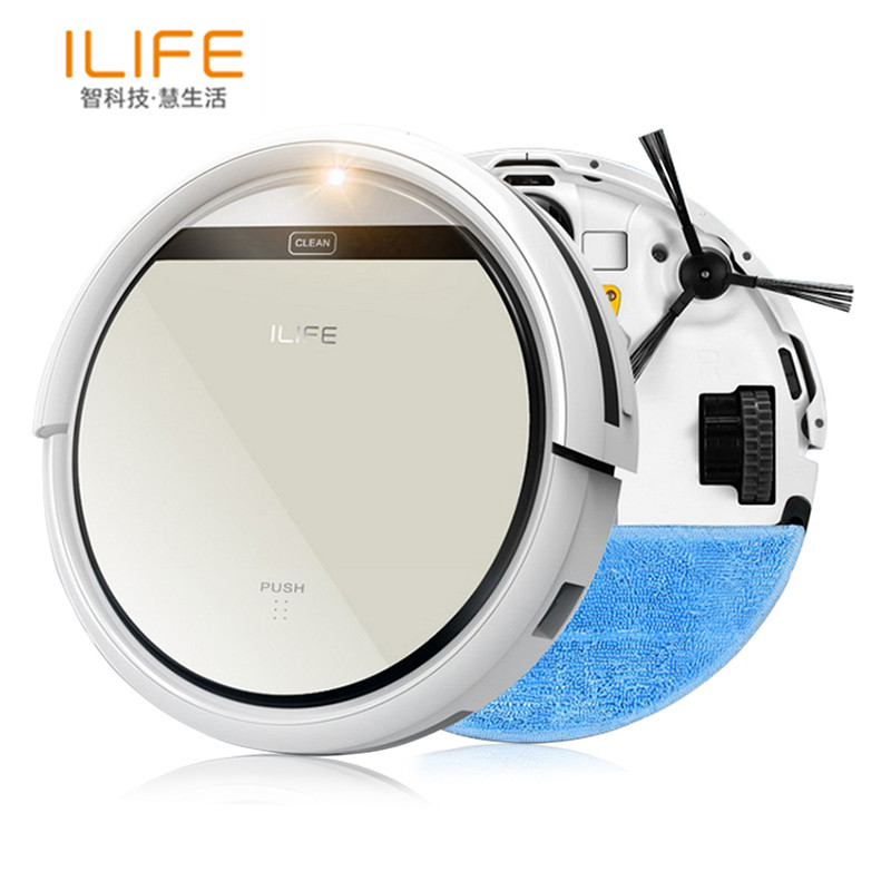 ILIFE V5 Robot Vacuum Cleaner Cleaning Robot Sweeping Mopping & Suction Double Filter Ciff Sensor Self Charge Smart Mop for Home(China (Mainland))