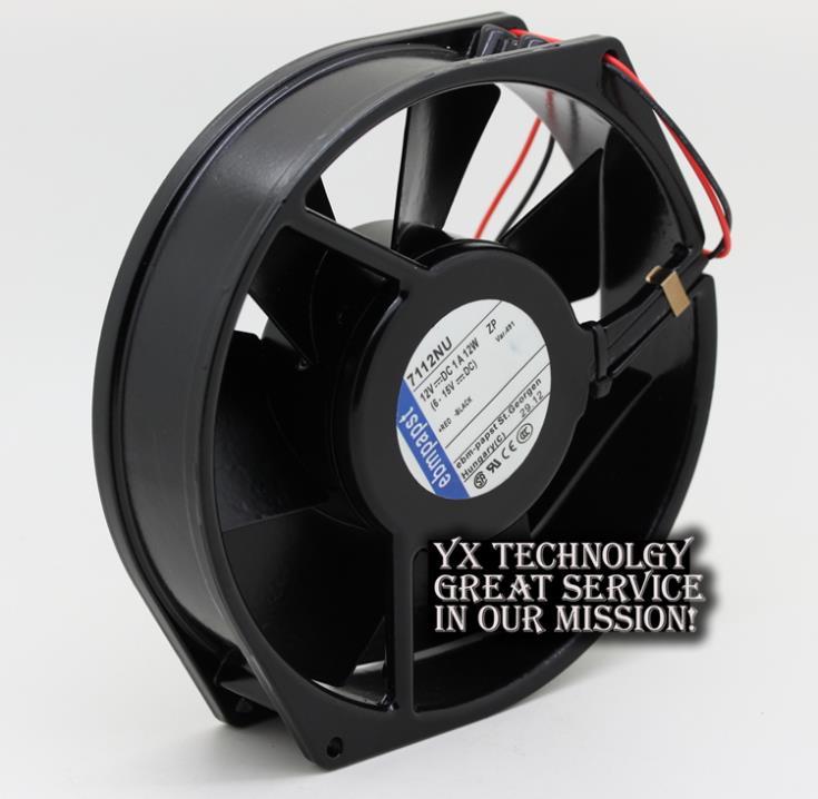 Фотография Full Metal Original 7112NU 12V 12W 17CM 17038 temperature cooling fan for EBMPAPST 170*170*38mm