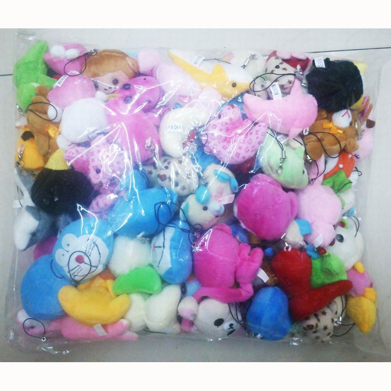 Multi-size small plush animals mixed package 4