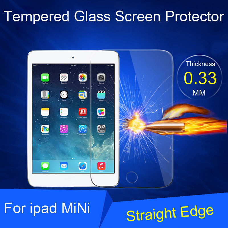 New Real Tempered Glass Film Screen Protector For iPad mini Glass screen Protector BXYSJ024-2(China (Mainland))
