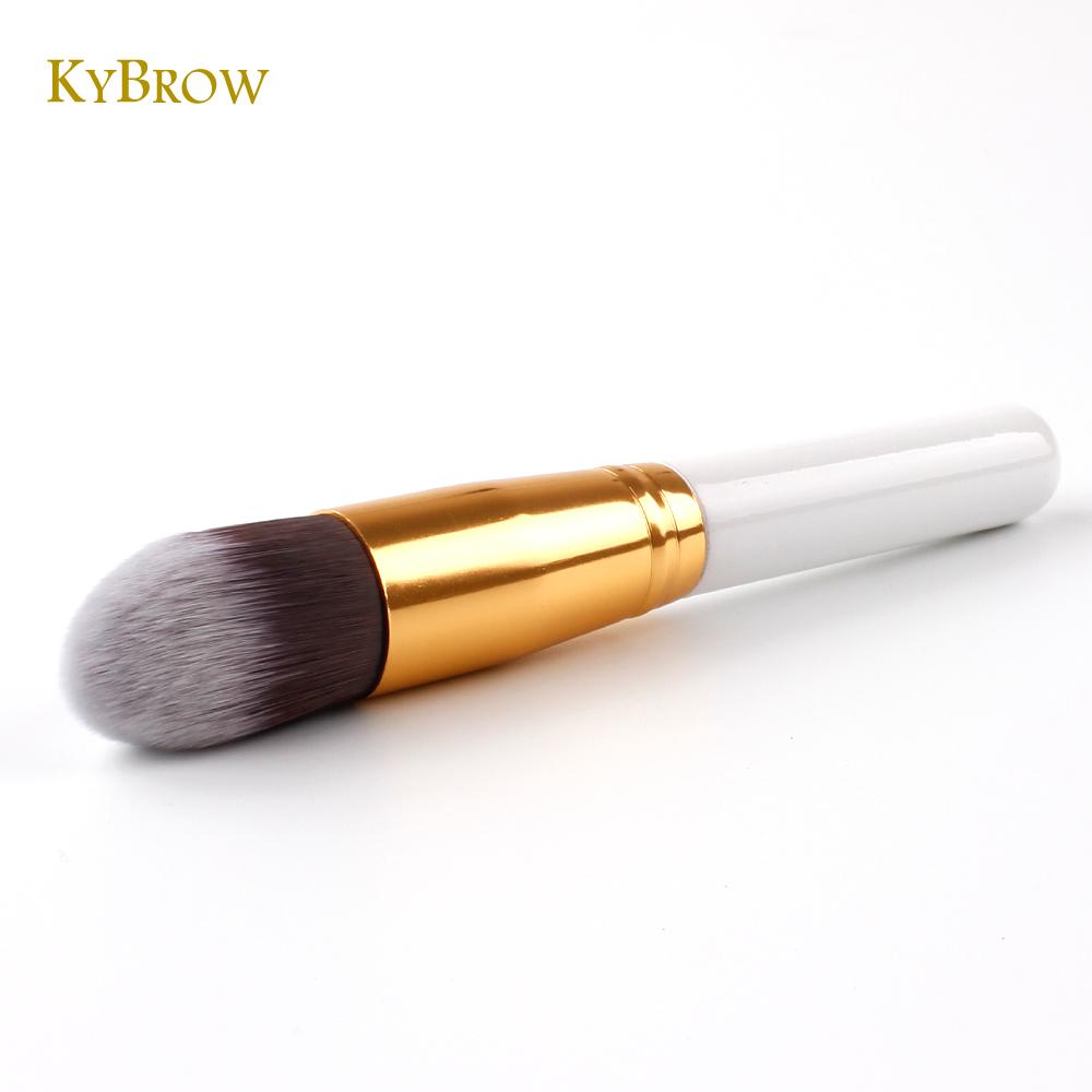 KYBROW 1Pcs Tapered Foundation Brush Pointed Kabuki Contour Face Makeup Duo Fiber Powder Cosmetic Beauty Collection Set Kit Tool(China (Mainland))