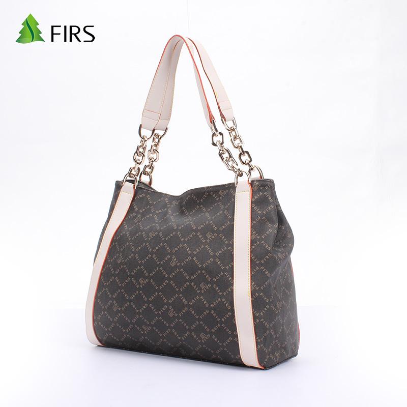 FIRS Fashion Brand 2016 New Handbags Womens Satchel Bags Party Bags PVC Leather Bag Plaid Tote Bag Female Chain Bolsa Feminina(China (Mainland))