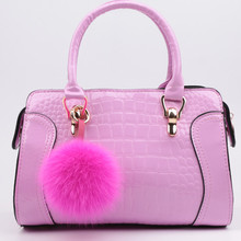 Free shipping new 2014 top fox fur ball bag accessories car key chains fashion