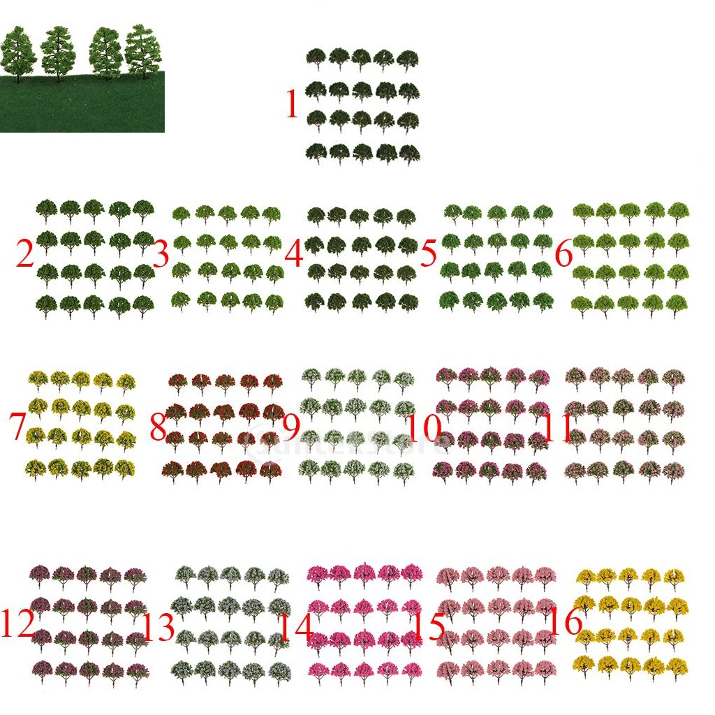 New 20pcs Plastic Simulation of Artificial Model Tree for Train Railway Model Trees Landscape Layout Scenery DIY 1:75 SA80-D006(China (Mainland))