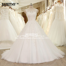Buy BEPEITHY Ball Gown Lace Wedding Dress Crystal Vinatge Princess Bridal Dresses Vestido De Novia 2017 Luxurious Wedding Gowns for $268.00 in AliExpress store