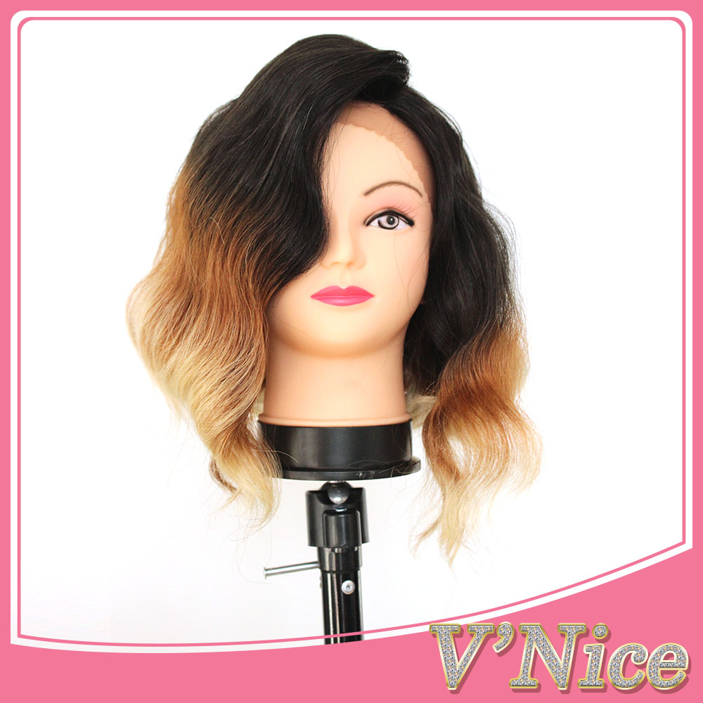 Ombre Synthetic Bob Wigs Black Brown Blond Ombre Natural Wave Synthetic Lace Front Wig Heat Resistant Fiber Synthetic Bob Wigs<br><br>Aliexpress