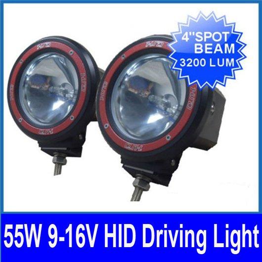 "2pcs 4"" 55W 12V HID Xenon Driving Light Off-Road SUV ATV 4WD 4x4 UTE SPOTLIGHT 3200lm Internal Slim Digital AC Ballasts H3 6000K(China (Mainland))"