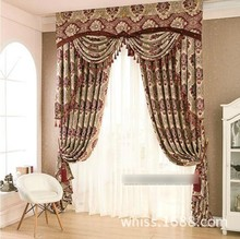 Blackout curtain with rings or hooks,free triming for different size ,1675 ,ready curtains and voile,curtain decor(China (Mainland))