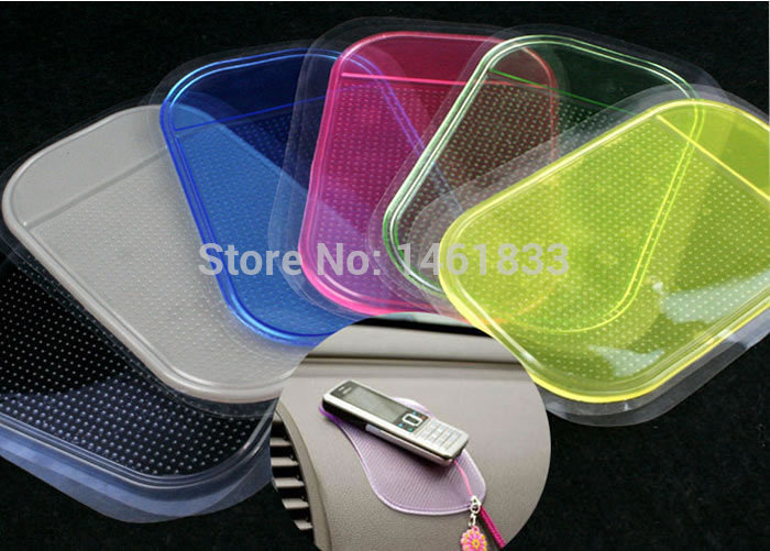 5pc Free Shipping Car Magic Grip Sticky Pad Anti Slide Dash Cell Phone Holder Non Slip Mat Clear(China (Mainland))