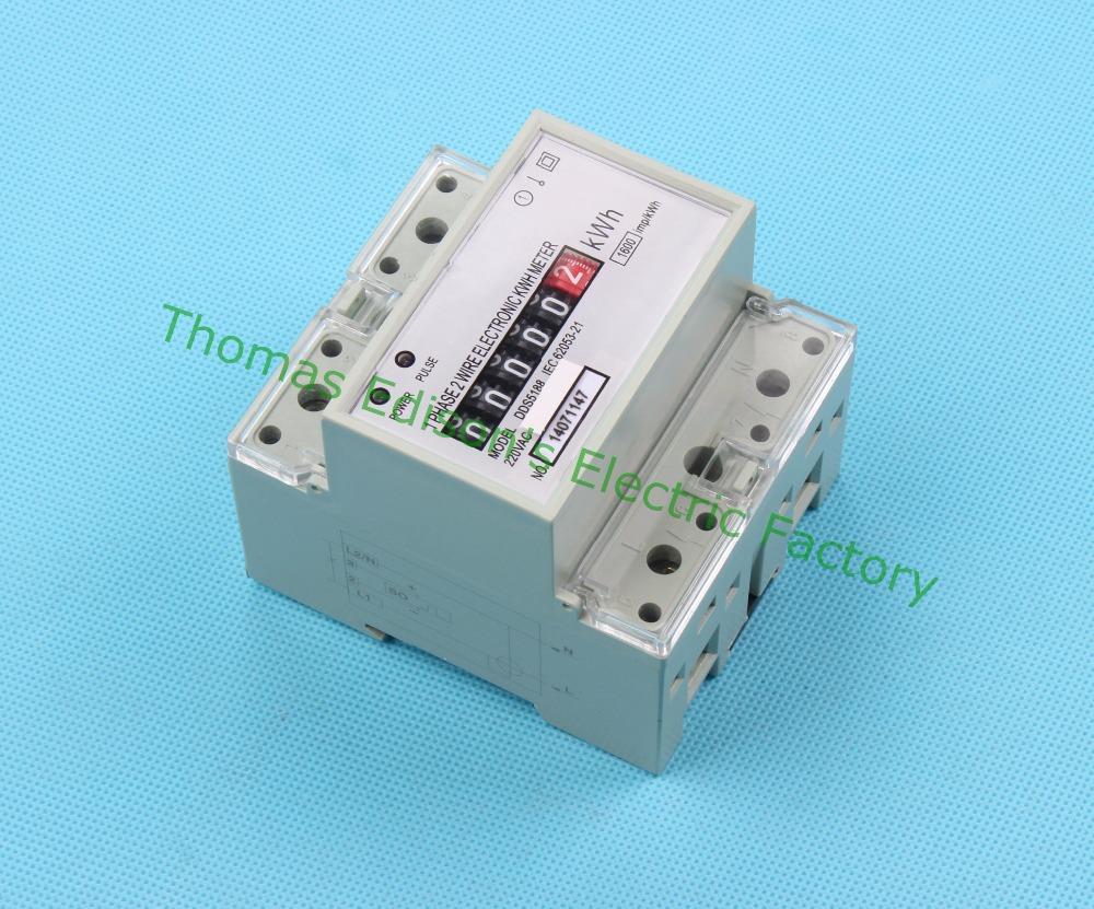 Din rail single phase kwh meter energy meter analog watt for Impulse 9 electric motor