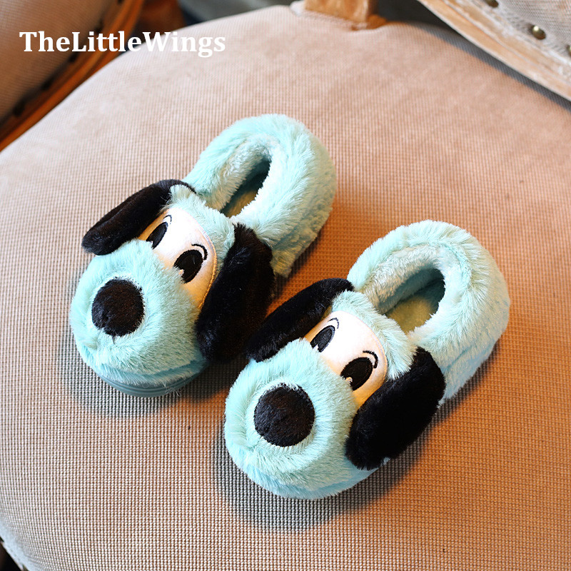 2017 winter new Fashion Children's shoes Keep warm foot cute flat Cartoon boys girls home slippers Super soft and comfortable