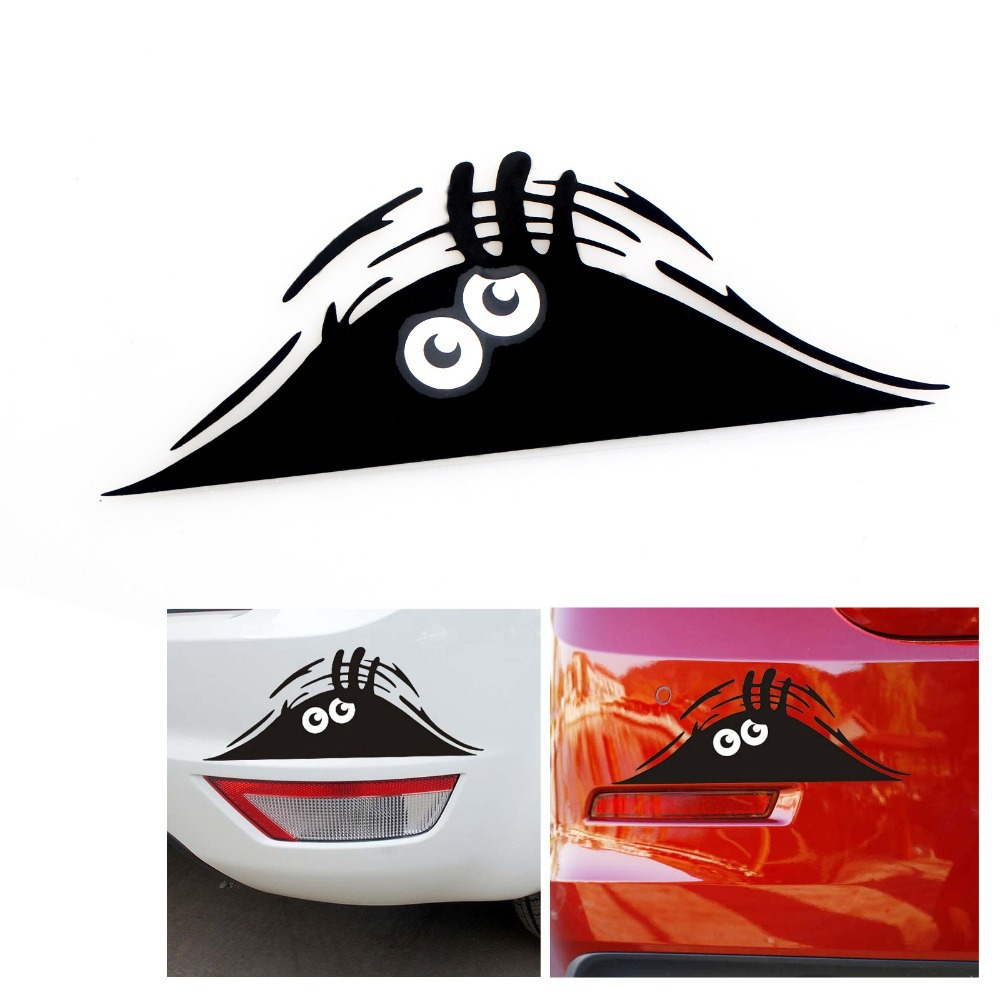 Car decals and graphics design - Reflective Waterproof Fashion Funny Peeking Monster Car Sticker Vinyl Decal Decorate Sticker China Mainland