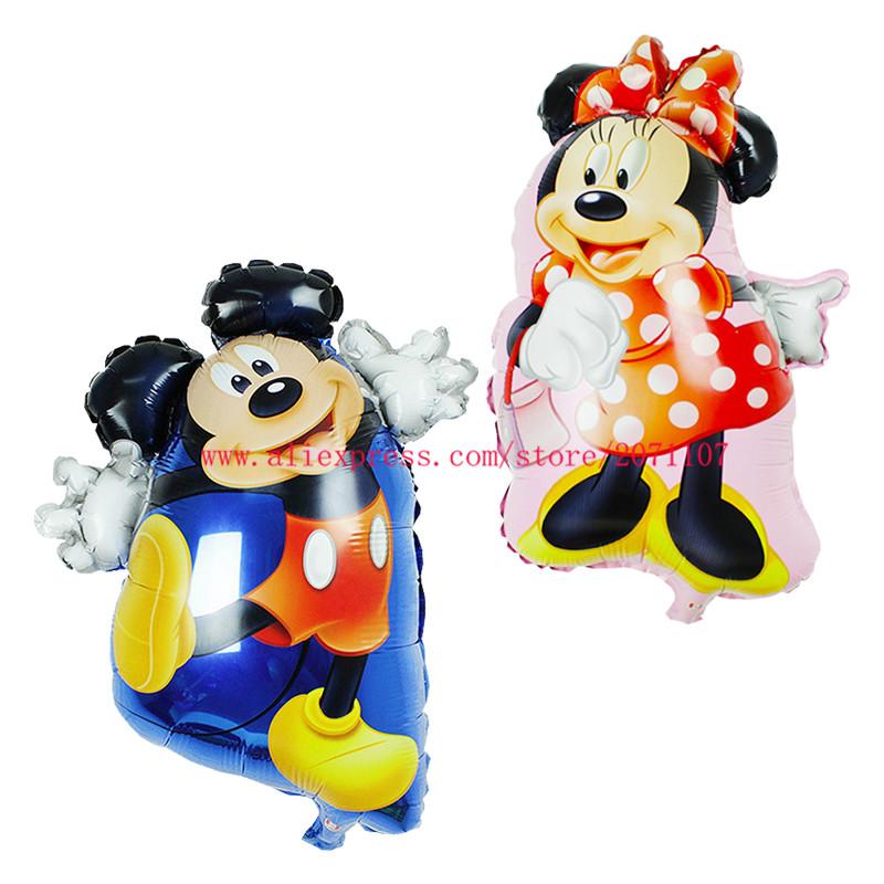 Lucky 50pcs/lot Mickey/Minnie Shaped Balloon Cartoon Mouse Foil Air Balloons Birthday Party Decoration Globos Mylar Ballons Toys(China (Mainland))