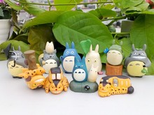 Free Shipping 10pcs/1set 3cm Anime Movie My Neighbor TOTORO Figures For Totoro Fans action figure A models suit