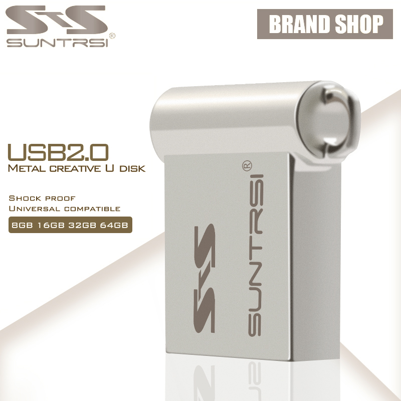 Suntrsi USB Flash Drive 64GB Mini Metal USB Stick Pen Drive High Speed Pendrive Customized Logo USB Flash Real Capacity(China (Mainland))