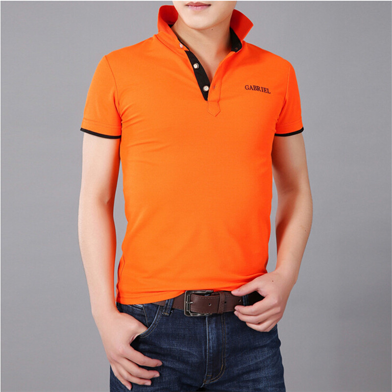 Buy 2015 summer men collar polo shirt men for Business casual polo shirt