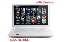 2015 Best Sell 14 inch Cheap laptop computer 4G&500G Dual Core 2.41ghz Bluetooth WiFi HDMI Windows 7 laptop notebok new cheap