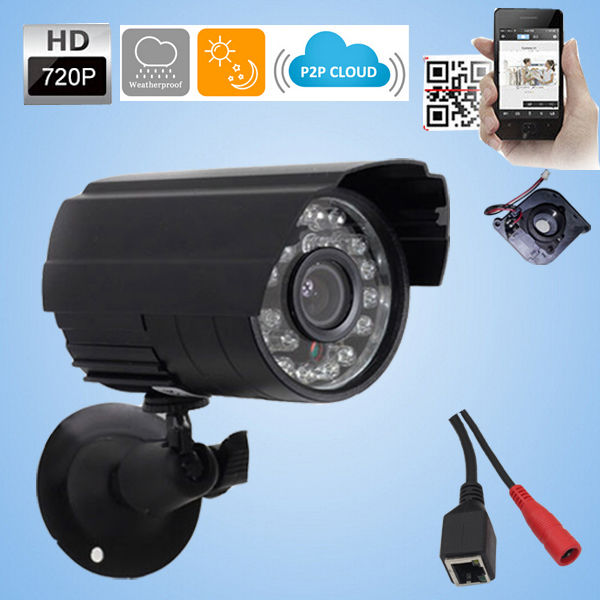 Mini IP camera 1280 720P 1 0MP ONVIF 2 0 Waterproof Outdoor waterproof IR CUT Filter