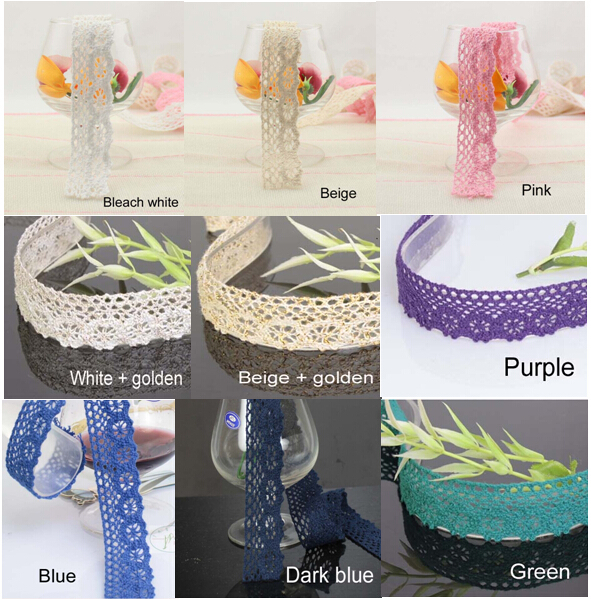 2.5-2.8 cm cotton lace trim,lace manufactory,Christmas gift packing lace,DIY clothing accessories,Handicraft lace,DIY lace